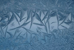 image of frost on a window.