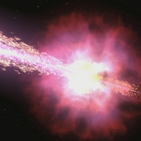 Artist's conception of a gamma-ray burst