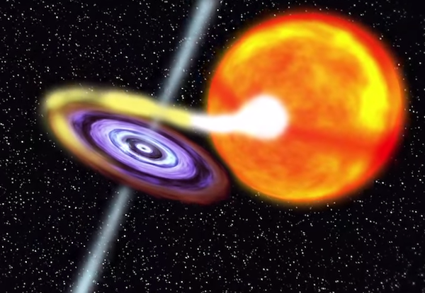 Artist's impression of an X-ray binary star system