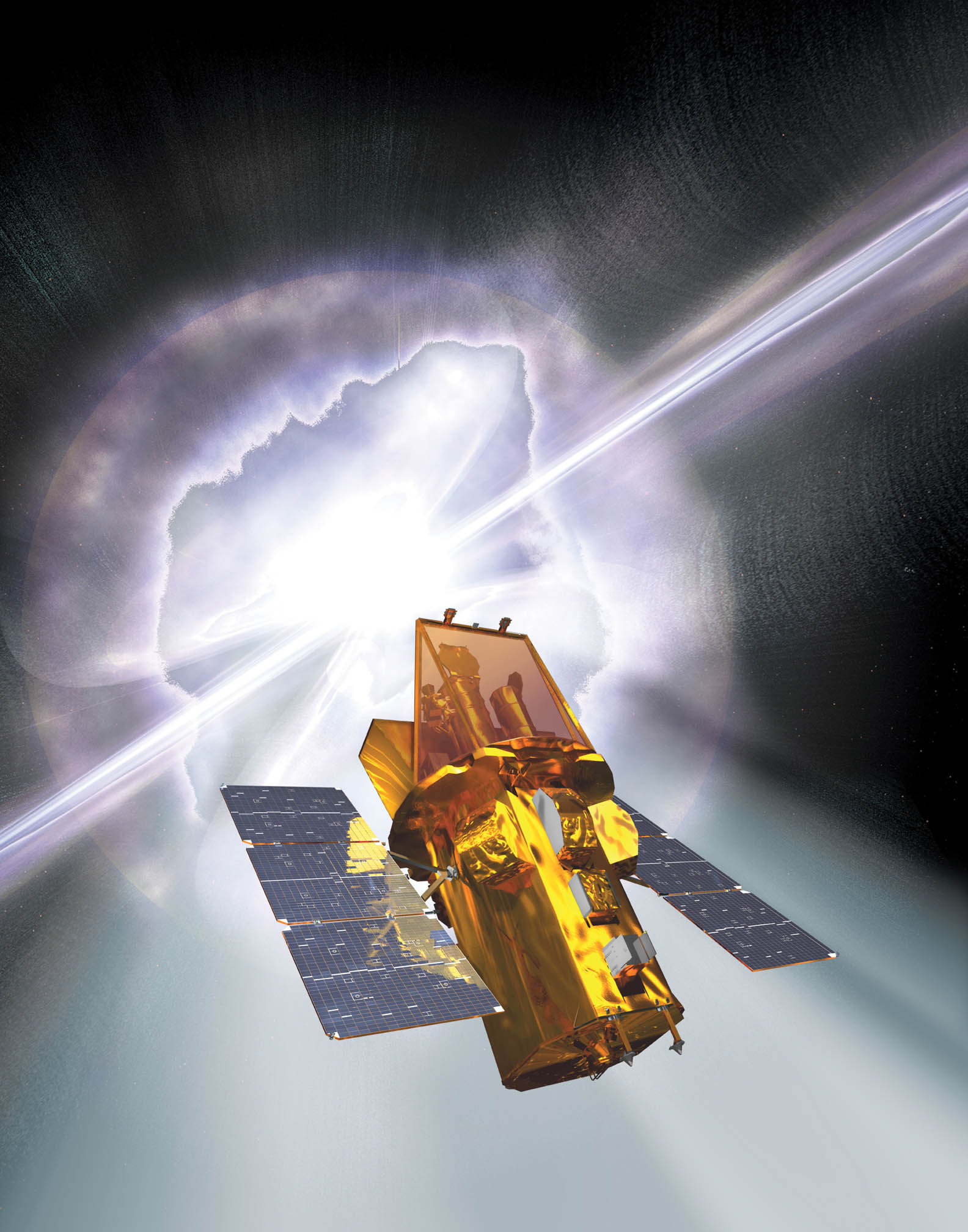 The SWIFT observatory observed a record change in the period of rotation of the comet 30