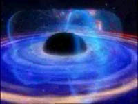 A large disk of gas around a black hole.