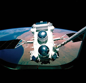 CGRO being deployed from the Space Shuttle Atlantis.