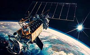 An artist's conception of the DMSP Block 5-2 satellites