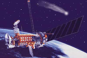 An artist's conception of the DMSP Block 5-3 satellites