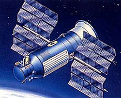 An artist's conception of the Gamma satellite.