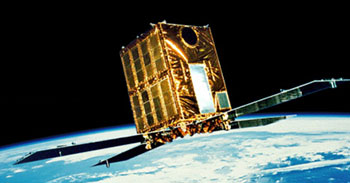 An artist's conception of the Ginga satellite