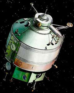 An artist's conception of the Kvant-1 module.