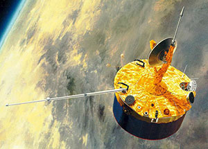 An artist's conception of the Pioneer Venus Orbiter