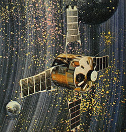 An artist's conception of the SIGNE 3 satellite.