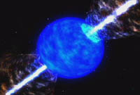 GRB destroying a star
