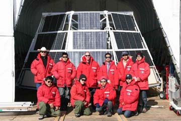 The BESS team in Antarctica