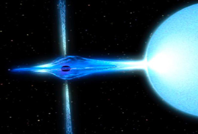 artist concept of spinning black hole