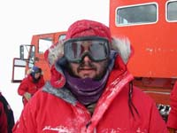 Photo of Eric dressed for extreme cold