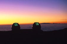 Keck Telescope at sunset
