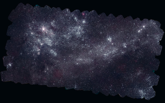Image of the band of the Milky Way from the ground