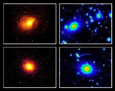 X-ray and Optical images of Abell 2390 and MS2137.3-2353