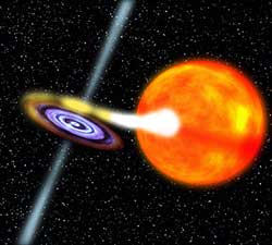 Artist's conception an X-ray binary system
