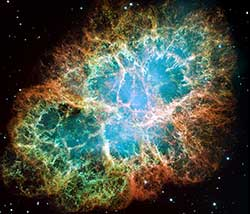 Optical image of the Crab Nebula