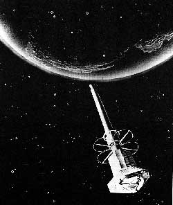 Artist's concept of Explorer 11 in orbit