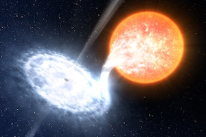 artist's impression of the GX339-4 binary system