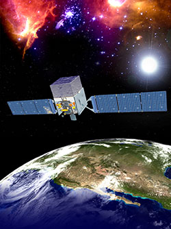 Artist's conception of the Fermi satellite