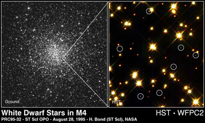 HST image of white dwarfs in M4