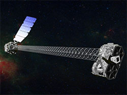 Artist's conception of the NuSTAR satellite in orbit