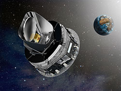 artist concept of the Planck observatory