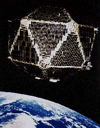 The Vela 5B satellite in low-Earth orbit